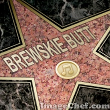 Brewskie Butt Walk of fame